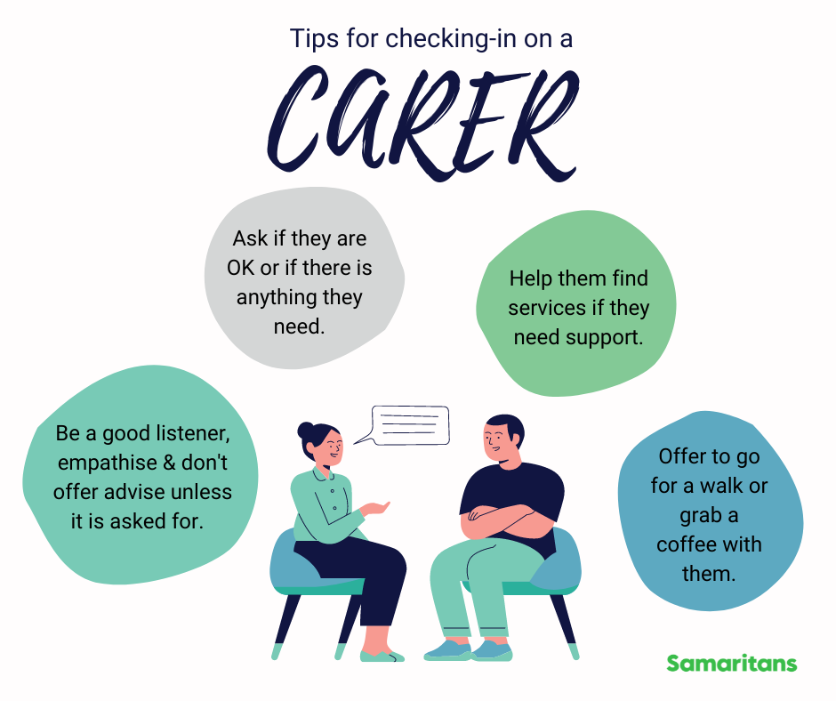 Tips for checking-in on a carer